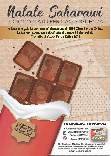 Cioccolato per accogliere i bimbi Saharawi