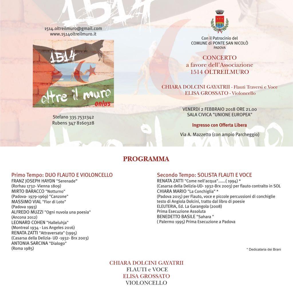 Venerdi' 2 Febbraio: concerto pro-Saharawi! Imperdibile!