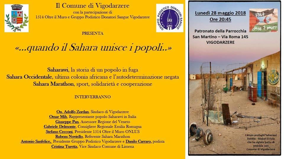 """..quando il Sahara unisce i popoli.."""