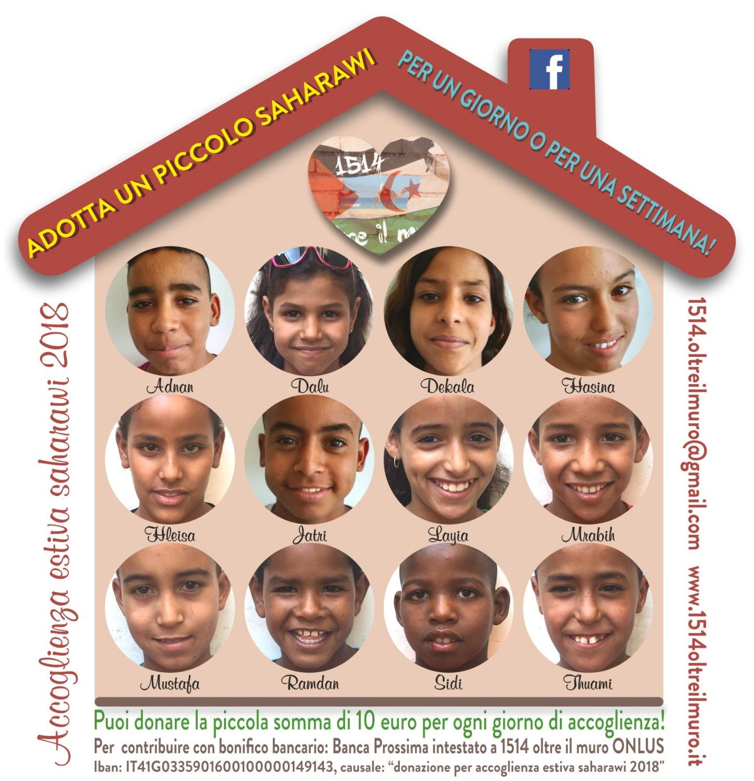 Adotta un bimbo Saharawi per il progetto accoglienza!